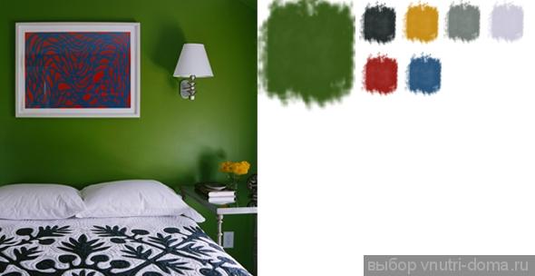 Зеленый цвет стен