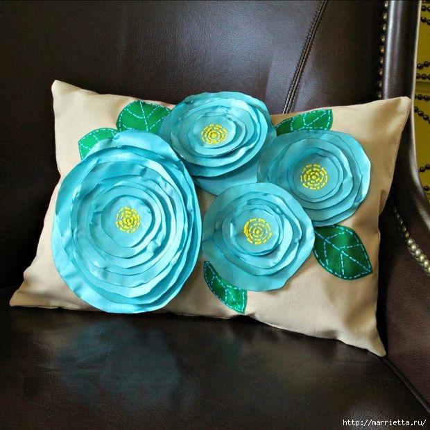 Цветочная подушка своими руками (5) (620x620, 205Kb)