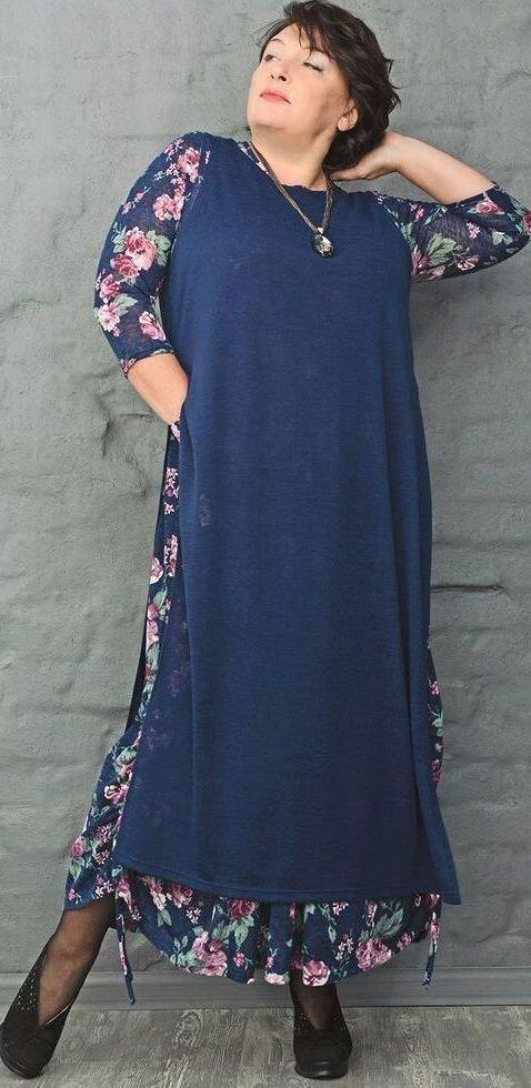 Комбинированное платье бохо