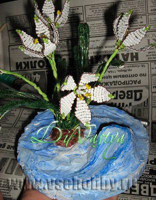 Гриб мухомор из гипса. Мастер-класс с пошаговыми фото Подставка для цветов своими руками из гипса