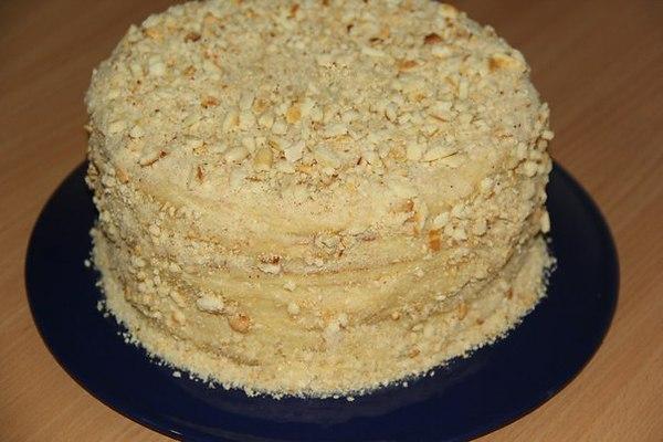 Медовый торт на сковороде со сгущенкой рецепт