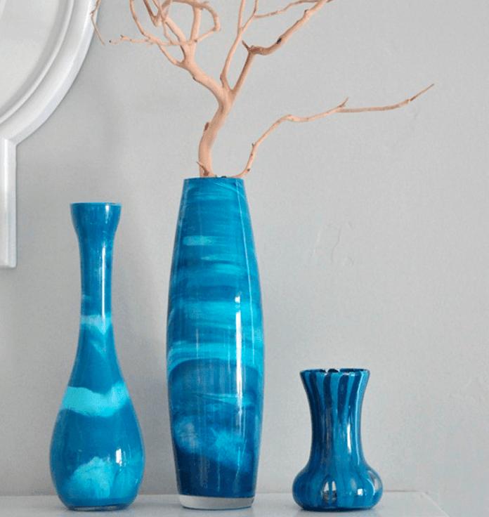 Как стеклянную вазу сделать матовой