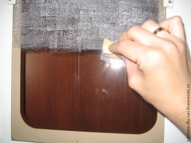 Матирование стекла (имитация)