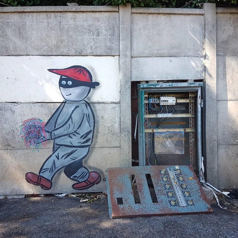 Вор вандализм, граффити, инсталляция, искусство, мир, творчество, улица, художник