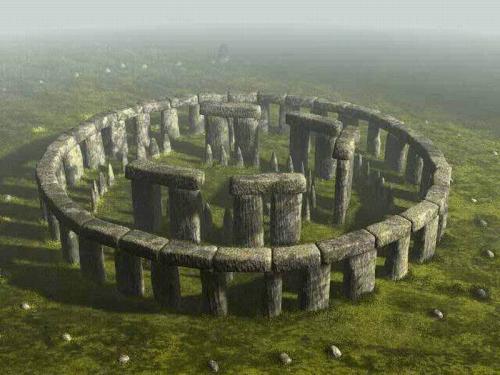 В центре находится каменный алтарь, окруженный подковообразным кругом из камней. Истинное назначение Стоунхенджа так и остается загадкой на сегодняшний день. Существует три основные теории, одна из которых предполагает, что это место служило для проведения ритуальных церемоний и похорон.Компьютерная реконструкция