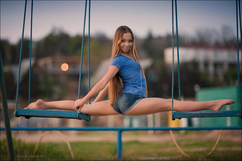 фото девушек на шпагате