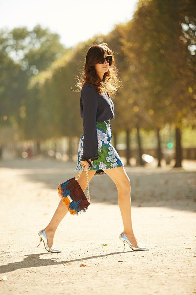 Неделя моды в Париже, весна-лето 2016: street style. Часть 1 (фото 33)