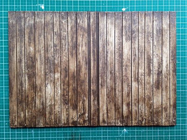 Несложный мастер-класс по созданию обложки для блокнота, имитирующей деревянные дощечки