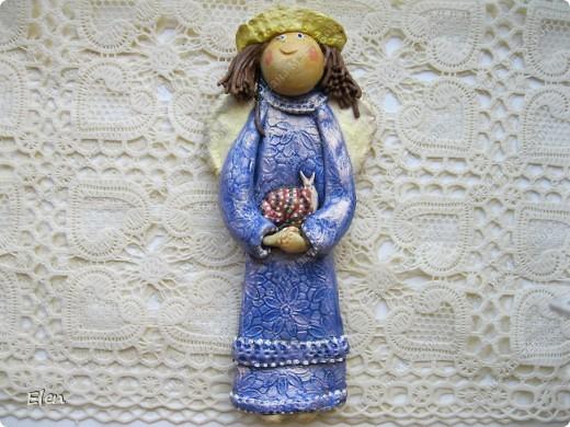 Картина, рисунок, панно Лепка: Ангелочки Гипс, Тесто соленое. Фото 3