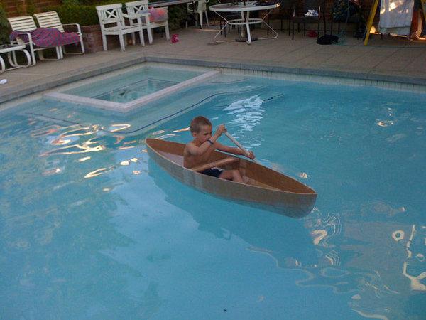Как сделать картонную лодку …