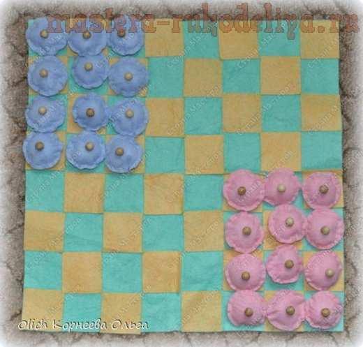 Мастер-класс по шитью: Мягкие шашки
