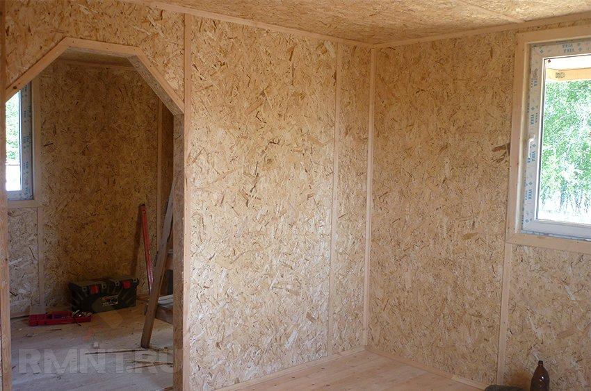 Внутренняя отделка стен из осп