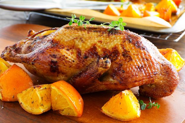 Курица в духовке с апельсиномы с фото
