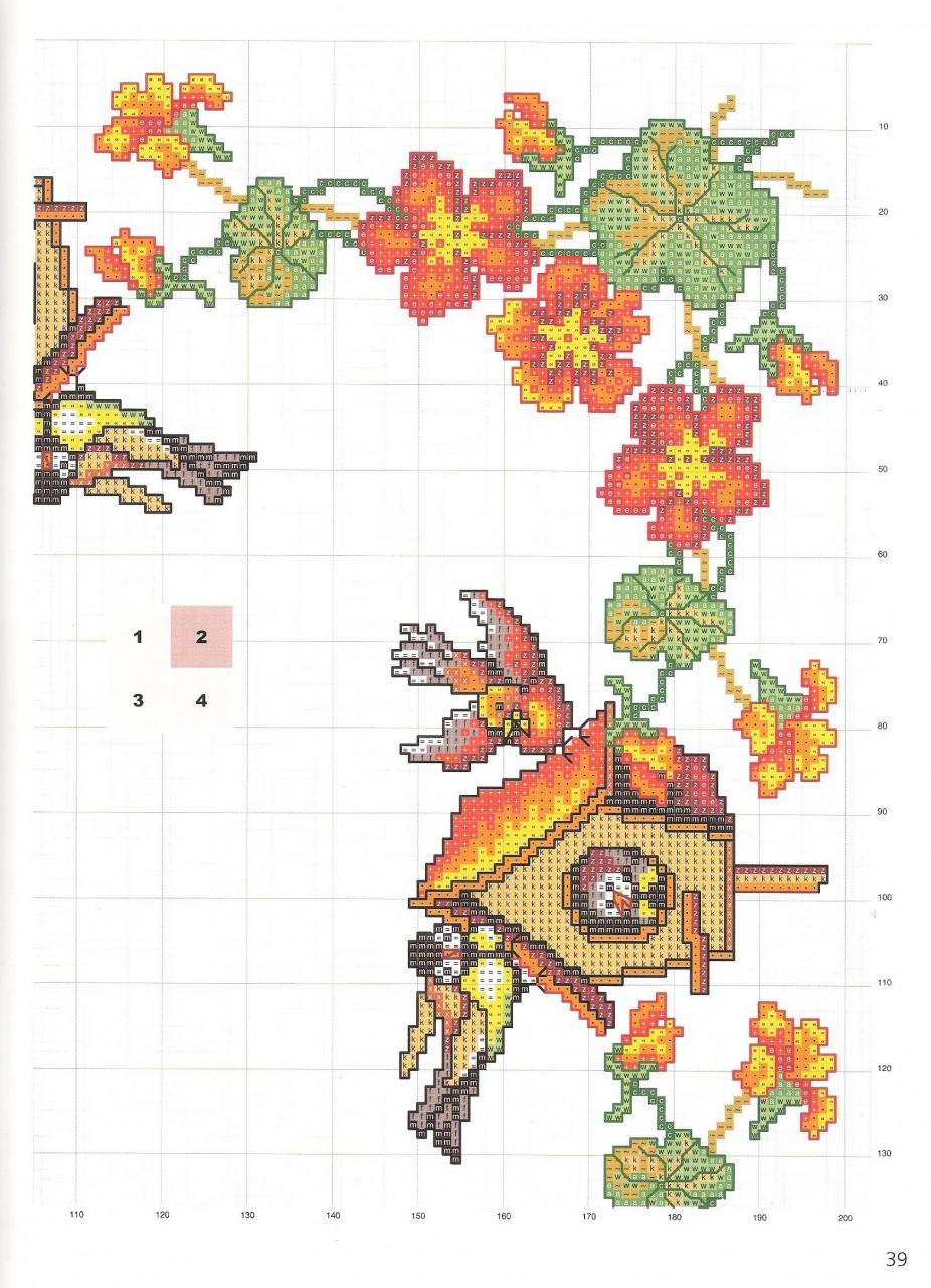 Схема вышивки крестом подсолнухи салфетка