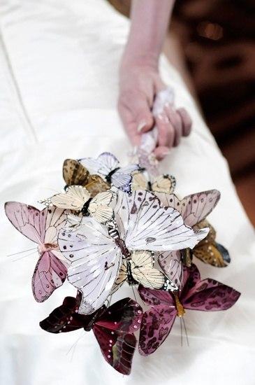 Букеты с бумажными бабочками. Идеи