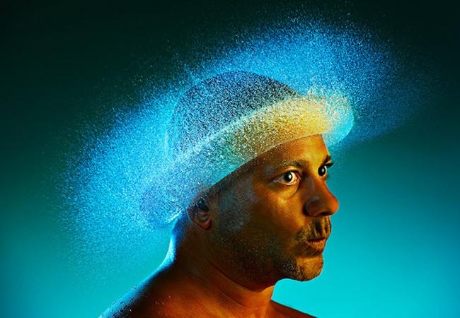 Необычный фотопроект: Парики из воды