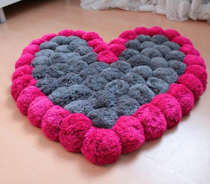 Как сделать из помпонов, ковер, плед, покрывало, одеяло, детский коврик