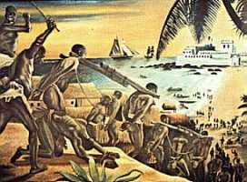 Чернокожих рабов вывозят из Африки в США