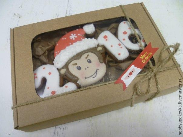 Делаем сами новогодний подарок — пряник с обезьянкой