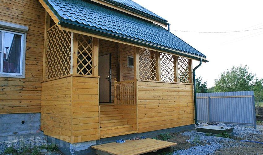 Крыльцо-веранда деревянного дома своими руками