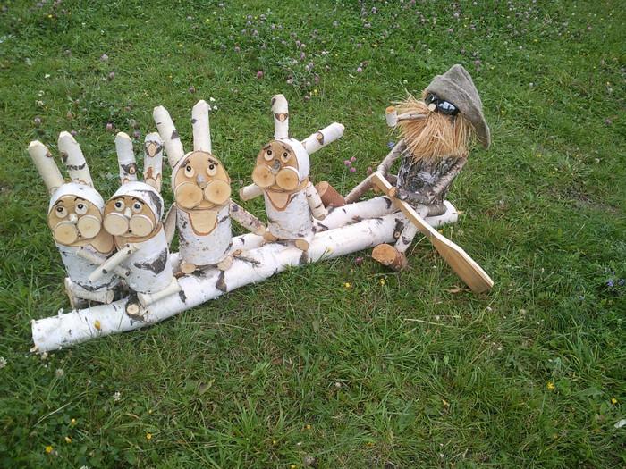 Садовые фигурки из дерева своими руками фото