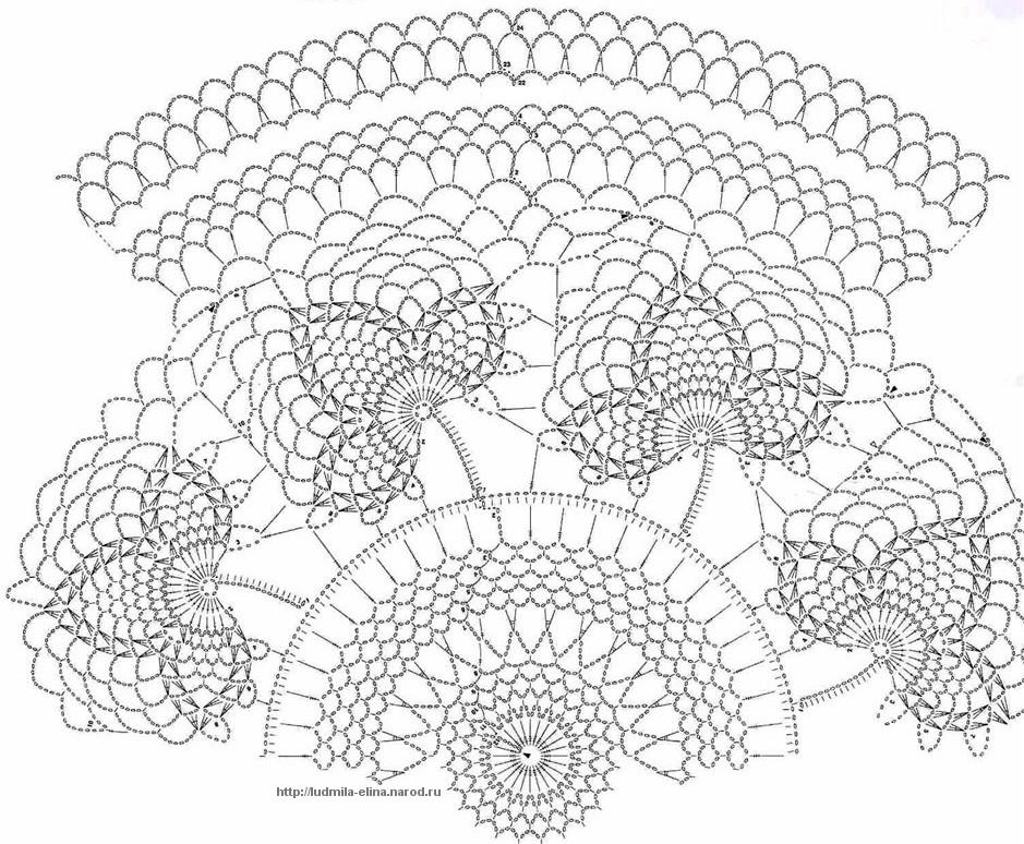 Схемы для вязания ажурных,