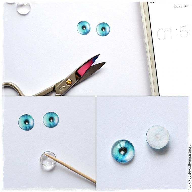 Глазки своими руками для игрушек