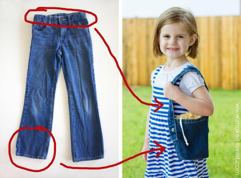 Что можно сделать из старых джинсов своими руками для девочки 96
