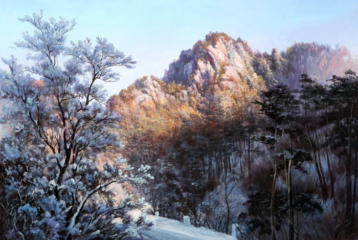 Пейзажи корейского художника Kang Jung Ho