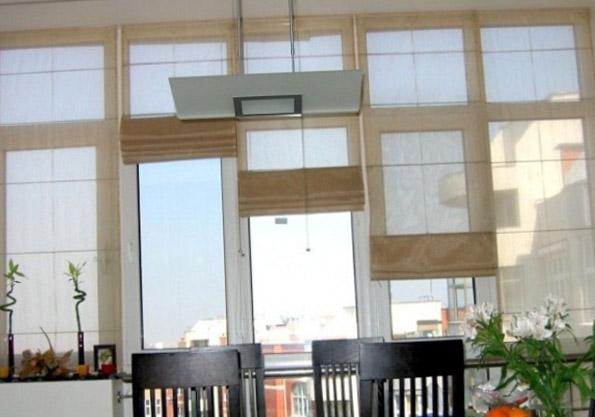 Шторы на кухню с балконом