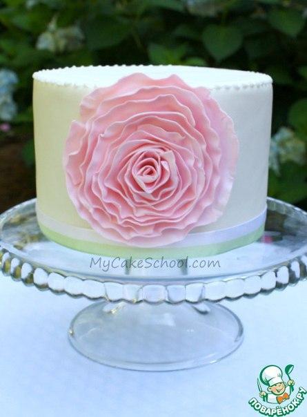 Роза из мастики для украшения торта. Мастер-класс