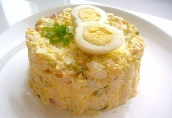 Картинки по запроÑу Ð' копилку любимых рецептов — Салат из курицы Ñ Ñоленым огурцом