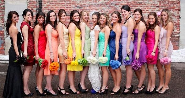 Радужная идея для свадьбы