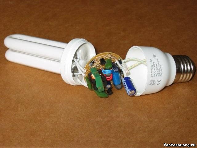 Люминесцентные светильник своими руками фото