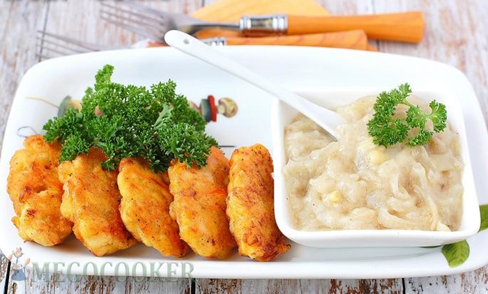 Золотистые куриные котлеты с морковью и луком, фото рецепт