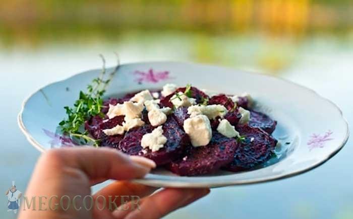 Рецепт свеклы на гриле с фетой