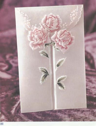 Открытка с розами.