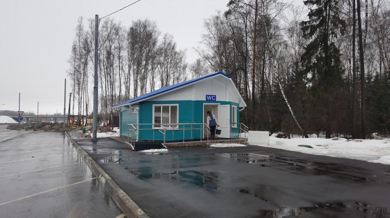 Туалет на трассе М4 - ДОН
