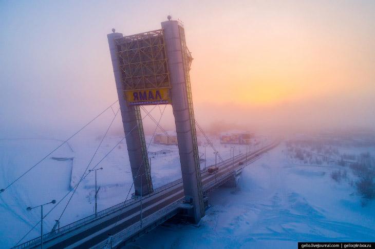 Салехард с высоты: город на полярном круге
