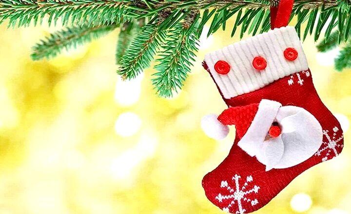 новогодний носочек