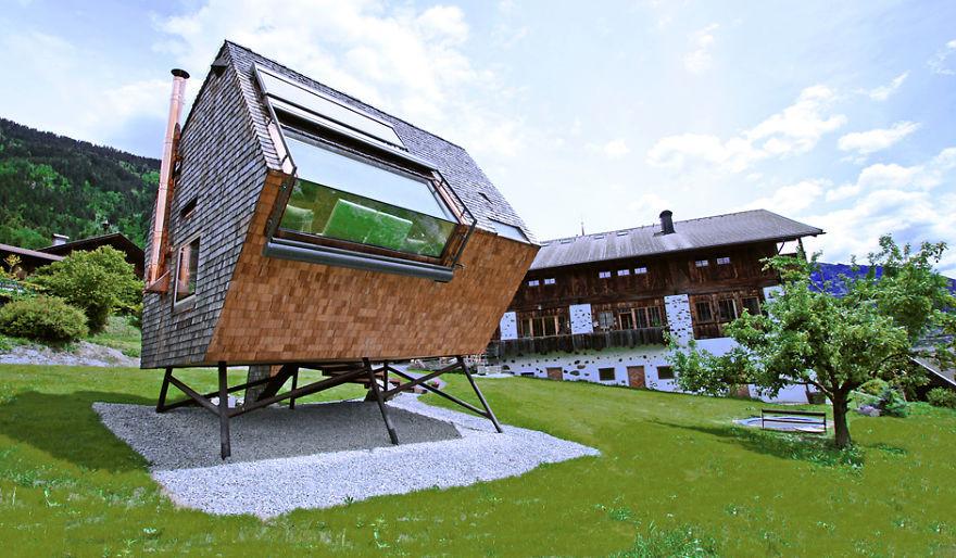 24. Маленький домик в Альпах вместительность, дом, размер