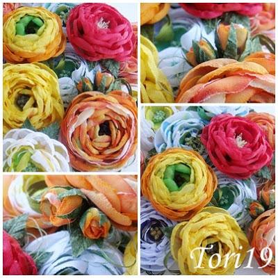 Цветы из ткани. Великолепный МК!