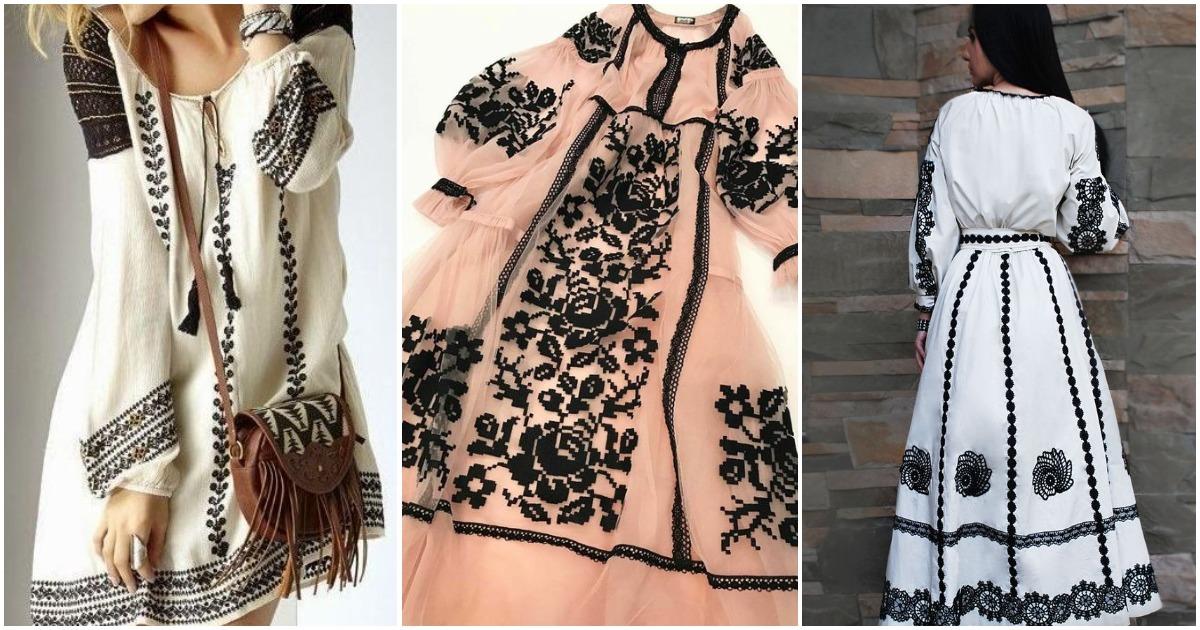 Магия монохромной вышивки: элегантно, притягательно и стильно