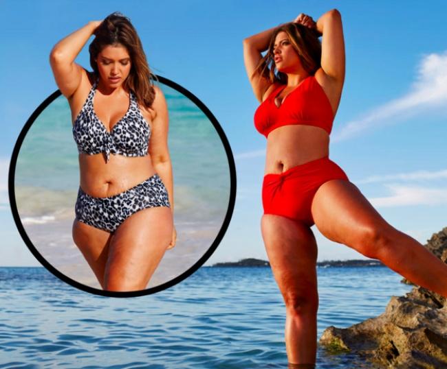 Модель плюс-сайз снялась в рекламе без ретуши, не побоявшись продемонстрировать несовершенства своей фигуры