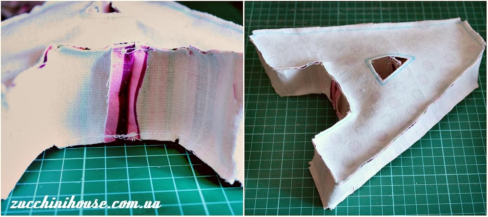 Как сделать букву м подушку