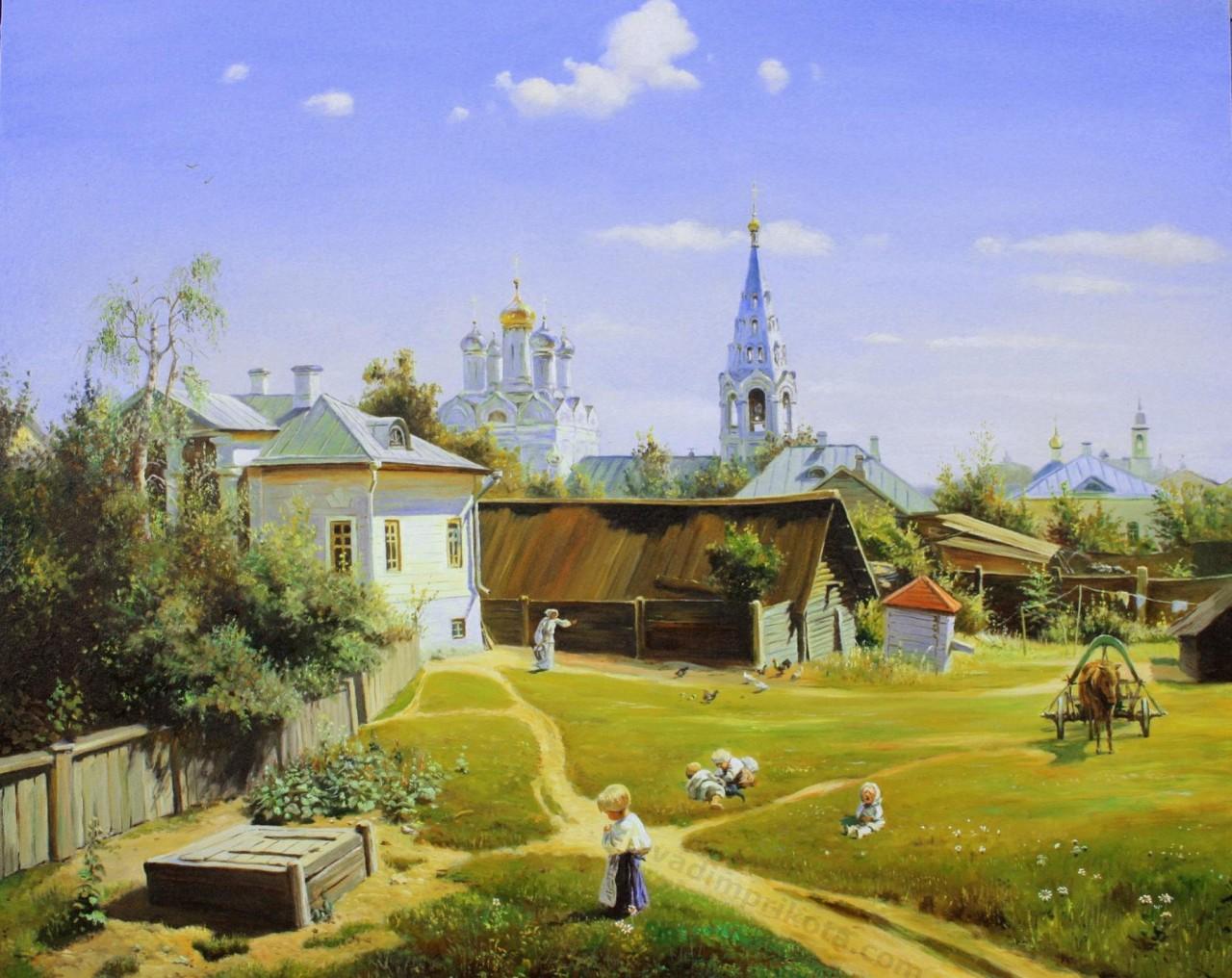 Московский дворик образца 2011г.
