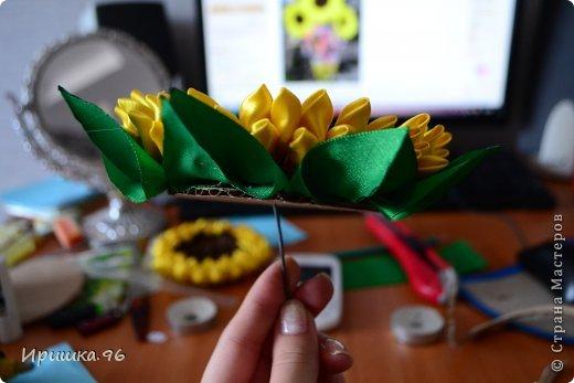 Мастер-класс Поделка изделие 8 марта День рождения Моделирование конструирование МК подсолнуха Гипс Кофе Ленты фото 9