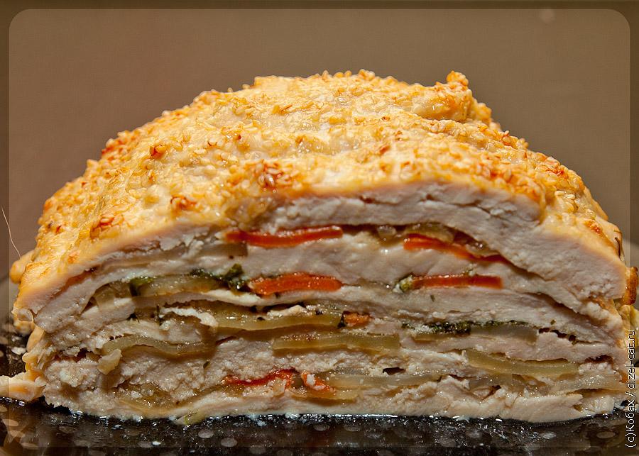 Торт из куриной грудки рецепт с фото пошагово