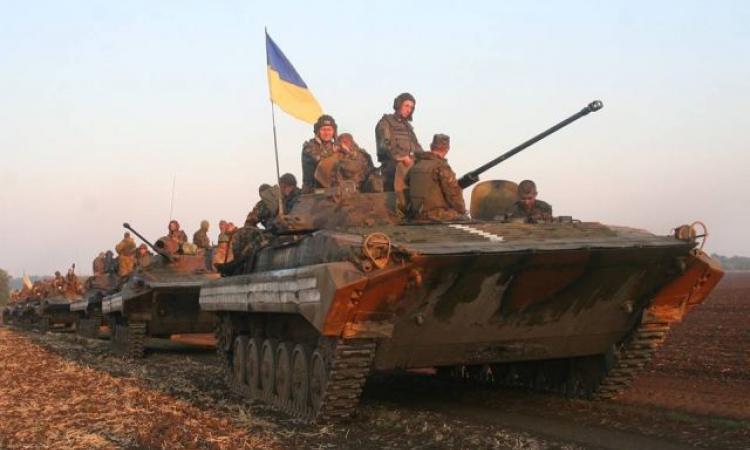 украинские силовики идут в наступление на БМП