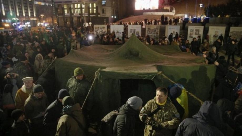 В центре Киева протестующие …